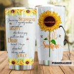 Personalized You Are My Sunshine My Only Sunshine Stainless Steel Tumbler, Tumbler Cups For Coffee/Tea, Great Customized Gifts For Birthday Christmas Thanksgiving