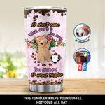 Cat I'm Grumpy I Want Coffee Stainless Steel Tumbler, Tumbler Cups For Coffee/Tea