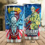 Personalized US Army Fight For Freedom Stainless Steel Tumbler Perfect Gifts For Us Army Tumbler Cups For Coffee/Tea, Great Customized Gifts For Birthday Christmas Thanksgiving