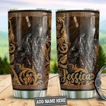 Personalized Wolf Stainless Steel Tumbler Perfect Gifts For Wolf Lover Tumbler Cups For Coffee/Tea, Great Customized Gifts For Birthday Christmas Thanksgiving