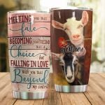 Personalized Goat Meeting You Was Fate Stainless Steel Tumbler Perfect Gifts For Goat Lover Tumbler Cups For Coffee/Tea, Great Customized Gifts For Birthday Christmas Thanksgiving