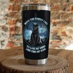 Black Cat Into The Forest I Go To Lose My Mind And Find My Soul Stainless Steel Tumbler, Tumbler Cups For Coffee/Tea, Great Customized Gifts For Birthday Christmas Thanksgiving
