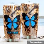 Personalized Butterfly Stainless Steel Tumbler Perfect Gifts For Butterfly Lover Tumbler Cups For Coffee/Tea, Great Customized Gifts For Birthday Christmas Thanksgiving