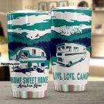 Personalized Camping Home Sweet Home Stainless Steel Tumbler Perfect Gifts For Camping Lover Tumbler Cups For Coffee/Tea, Great Customized Gifts For Birthday Christmas Thanksgiving