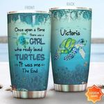 Personalized Turtle Once Upon A Time Stainless Steel Tumbler Perfect Gifts For Turtle Lover Tumbler Cups For Coffee/Tea, Great Customized Gifts For Birthday Christmas Thanksgiving