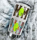 Tennis Mom Stainless Steel Tumbler Perfect Gifts For Tennis Lover Tumbler Cups For Coffee/Tea, Great Customized Gifts For Birthday Christmas Thanksgiving