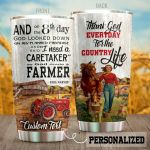 Personalized Farmer Thank God Everyday For Country Life Stainless Steel Tumbler Perfect Gifts For Farmer Tumbler Cups For Coffee/Tea, Great Customized Gifts For Birthday Christmas Thanksgiving
