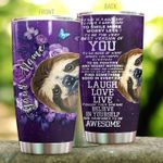 Personalized Sloth Today Is A Good Day Stainless Steel Tumbler Perfect Gifts For Sloth Lover Tumbler Cups For Coffee/Tea, Great Customized Gifts For Birthday Christmas Thanksgiving
