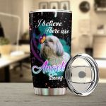 Shih Tzu Dog I Believe There Are Angels Among Us Stainless Steel Tumbler Perfect Gifts For Dog Lover Tumbler Cups For Coffee/Tea, Great Customized Gifts For Birthday Christmas Thanksgiving