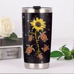 Turtle Sunflower You Are My Sunshine Stainless Steel Tumbler, Tumbler Cups For Coffee/Tea, Great Customized Gifts For Birthday Christmas Thanksgiving