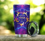 International Yoga Day Stainless Steel Tumbler Perfect Gifts For Yoga Lover Tumbler Cups For Coffee/Tea, Great Customized Gifts For Birthday Christmas Thanksgiving