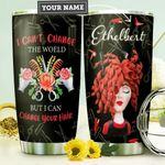 Personalized Hairstylist I Can't Change The World Stainless Steel Tumbler Perfect Gifts For Hairstylist Tumbler Cups For Coffee/Tea, Great Customized Gifts For Birthday Christmas Thanksgiving