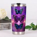 Purple Butterfly Stainless Steel Tumbler, Tumbler Cups For Coffee/Tea, Great Customized Gifts For Birthday Christmas Thanksgiving