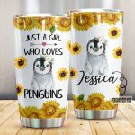 Personalized Just A Girl Who Loves Penguins Stainless Steel Tumbler Perfect Gifts For Penguin Lover Tumbler Cups For Coffee/Tea, Great Customized Gifts For Birthday Christmas Thanksgiving