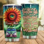 Personalized Hippie Life Gypsy Soul Eye On Sunflower Stainless Steel Tumbler Perfect Gifts For Hipppie Tumbler Cups For Coffee/Tea, Great Customized Gifts For Birthday Christmas Thanksgiving