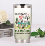 Husband And Wife Camping Partners For Life Stainless Steel Tumbler Perfect Gifts For Camping Lover Tumbler Cups For Coffee/Tea, Great Customized Gifts For Birthday Christmas Thanksgiving