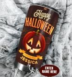 Personalized Pumpkin Happy Halloween Stainless Steel Tumbler Perfect Gifts For Pumpkin Lover Tumbler Cups For Coffee/Tea, Great Customized Gifts For Birthday Christmas Thanksgiving Halloween