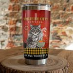 Maine Cat Coffee Whatever Kitty Coffee Stainless Steel Tumbler Perfect Gifts For Cat Lover Tumbler Cups For Coffee/Tea, Great Customized Gifts For Birthday Christmas Thanksgiving
