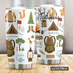 Personalized Camping Adventure Time Stainless Steel Tumbler Perfect Gifts For Camping Lover Tumbler Cups For Coffee/Tea, Great Customized Gifts For Birthday Christmas Thanksgiving