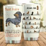 Personalized Dachshund Dog Small Cute Lively Stainless Steel Tumbler Perfect Gifts For Dog Lover Tumbler Cups For Coffee/Tea, Great Customized Gifts For Birthday Christmas Thanksgiving