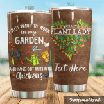 Personalized Gardening Crazy Plant Lady Stainless Steel Tumbler Perfect Gifts For Gardening Lover Tumbler Cups For Coffee/Tea, Great Customized Gifts For Birthday Christmas Thanksgiving