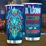 A Lion Doesn't Concern Himself With The Opinion Of A Sheep Stainless Steel Tumbler Perfect Gifts For Lion Lover Tumbler Cups For Coffee/Tea, Great Customized Gifts For Birthday Christmas Thanksgiving