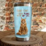 Maine Coon Cat Sorry I Can't Stainless Steel Tumbler Perfect Gifts For Cat Lover Tumbler Cups For Coffee/Tea, Great Customized Gifts For Birthday Christmas Thanksgiving