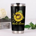 Dinosaur Sunflower Mama Saurus Stainless Steel Tumbler Perfect Gifts For Dinosaur Lover Tumbler Cups For Coffee/Tea, Great Customized Gifts For Birthday Christmas Thanksgiving