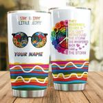 Personalized Hippie Stay Trippy Little Hippy Steel Tumbler Perfect Gifts For Hippie Lover Tumbler Cups For Coffee/Tea, Great Customized Gifts For Birthday Christmas Thanksgiving