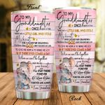 Personalized Elephant To My Granddaughter From Grandma There Was A Little Girl Who Stole My Heart Stainless Steel Tumbler Perfect Gifts For Elephant Lover Tumbler Cups For Coffee/Tea, Great Customized Gifts For Birthday Christmas Thanksgiving