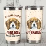 Beagle Dog All I Care About Is My Beagle Stainless Steel Tumbler Perfect Gifts For Beagle Dog Lover Tumbler Cups For Coffee/Tea, Great Customized Gifts For Birthday Christmas Thanksgiving