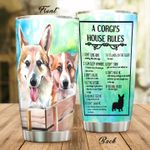 A Corgi's House Rules Stainless Steel Tumbler Perfect Gifts For Dog Lover Tumbler Cups For Coffee/Tea, Great Customized Gifts For Birthday Christmas Thanksgiving