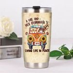 A Girl And Her Chihuahua Living Life In Peace Stainless Steel Tumbler, Tumbler Cups For Coffee/Tea, Great Customized Gifts For Birthday Christmas Thanksgiving