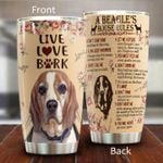 A Beagle's House Rule Stainless Steel Tumbler Perfect Gifts For Dog Lover Tumbler Cups For Coffee/Tea, Great Customized Gifts For Birthday Christmas Thanksgiving