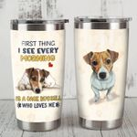 A Jack Russell Who Loves Me Stainless Steel Tumbler Perfect Gifts For Dog Lover Tumbler Cups For Coffee/Tea, Great Customized Gifts For Birthday Christmas Thanksgiving