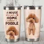 A House Is Not A Home Without A Poodle Stainless Steel Tumbler, Tumbler Cups For Coffee/Tea, Great Customized Gifts For Birthday Christmas Thanksgiving