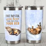 Bengal Cat First They Steal Your Heart Stainless Steel Tumbler Perfect Gifts For Cat Lover Tumbler Cups For Coffee/Tea, Great Customized Gifts For Birthday Christmas Thanksgiving
