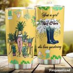 Personalized Gardening Just A Girl Who Loves Gardening Stainless Steel Tumbler Perfect Gifts For Gardening Lover Tumbler Cups For Coffee/Tea, Great Customized Gifts For Birthday Christmas Thanksgiving
