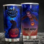 Personalized Halloween Trick Or Treat Stainless Steel Tumbler, Tumbler Cups For Coffee/Tea, Great Customized Gifts For Birthday Christmas Thanksgiving Halloween