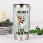 Adorable Corgi Dog Obsessive Corgi Disorder Stainless Steel Tumbler Perfect Gifts For Corgi Dog Lover Tumbler Cups For Coffee/Tea, Great Customized Gifts For Birthday Christmas Thanksgiving
