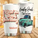 Personalized Farmer Country Roads Take Me Home Stainless Steel Tumbler Perfect Gifts For Farmer Tumbler Cups For Coffee/Tea, Great Customized Gifts For Birthday Christmas Thanksgiving