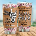 Personalized Hair Hustler I'm Just A Girls Who Loves Making Other Girl Feel Awesome Stainless Steel Tumbler Perfect Gifts For Hairstylist Tumbler Cups For Coffee/Tea, Great Customized Gifts For Birthday Christmas Thanksgiving