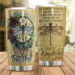 Personalized Dragonfly I See Trees Of Green Stainless Steel Tumbler Perfect Gifts For Dragonfly Lover Tumbler Cups For Coffee/Tea, Great Customized Gifts For Birthday Christmas Thanksgiving