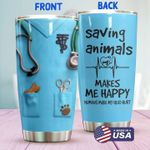 Vet Tech Uniform Stainless Steel Tumbler, Tumbler Cups For Coffee/Tea, Great Customized Gifts For Birthday Christmas Thanksgiving