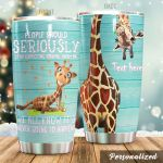 Personalized Giraffe It's Never Going To Happen Stainless Steel Tumbler Perfect Gifts For Giraffe Lover Tumbler Cups For Coffee/Tea, Great Customized Gifts For Birthday Christmas Thanksgiving