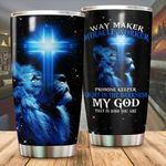 Lion Way Maker Miracle Worker Stainless Steel Tumbler Perfect Gifts For Lion Lover Tumbler Cups For Coffee/Tea, Great Customized Gifts For Birthday Christmas Thanksgiving