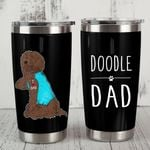 Chocolate Labradoodle Dog Doodle Dad Stainless Steel Tumbler, Tumbler Cups For Coffee/Tea, Great Customized Gifts For Birthday Christmas Thanksgiving