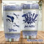 Personalized Hair Hustler Blue Rose Stainless Steel Tumbler Perfect Gifts For Hair Hustler Tumbler Cups For Coffee/Tea, Great Customized Gifts For Birthday Christmas Thanksgiving