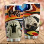Pug Dog Stainless Steel Tumbler Perfect Gifts For Dog Lover Tumbler Cups For Coffee/Tea, Great Customized Gifts For Birthday Christmas Thanksgiving
