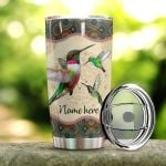 Personalized Hummingbird Mandala Stainless Steel Tumbler Perfect Gifts For Hummingbird Lover Tumbler Cups For Coffee/Tea, Great Customized Gifts For Birthday Christmas Thanksgiving